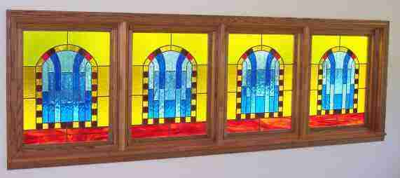 Arched Window Panels - 3 ft by 10 ft