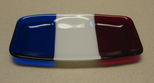 Finished USA colors plate