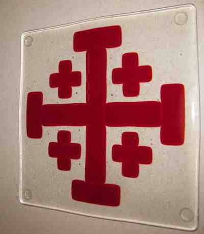 Jerusalem Cross Tile on Clear
