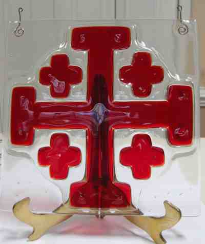 Jerusalem Cross Hanging Tile
