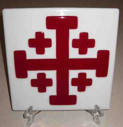 Jerusalem Cross Tile on White