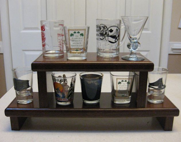 Shot Glass Display Shelf