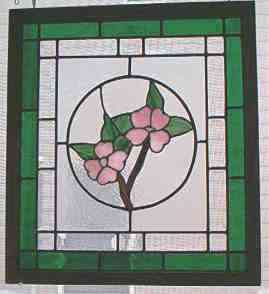Custom Stained Glass - Dogwood Panel