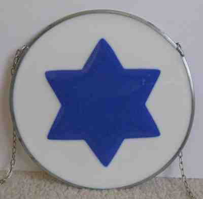 Custom Fused Glass Star of David