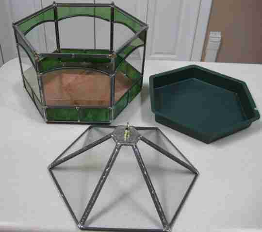 Stained Glass - Hexagonal Terrarium parts
