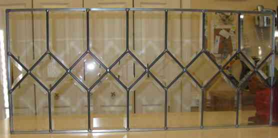 Custom Stained Glass - House Bevel Transom One