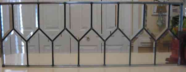 Custom Stained Glass - House Bevel Transom Two