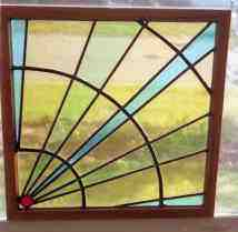 Custom Stained Glass - Rising Sun