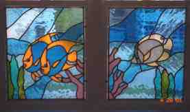 Custom Stained Glass - Fish Panels